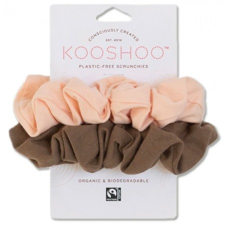 Kooshoo Organic Scrunchies - Blush Walnut
