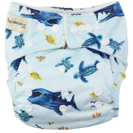 My Little Gumnut Modern Cloth Nappy - Marine Life