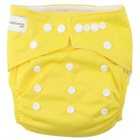 My Little Gumnut Modern Cloth Nappy - Sunshine Yellow