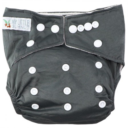 My Little Gumnut Modern Cloth Nappy - Grey