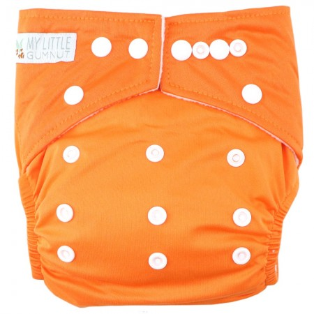 My Little Gumnut Modern Cloth Nappy - Vibrant Orange