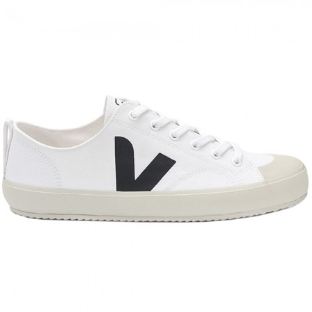VEJA Nova Unisex Canvas Sneaker - White & Black