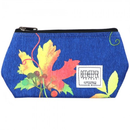Beekeeper Parade Makeup Bag Small - Cobalt Autumn