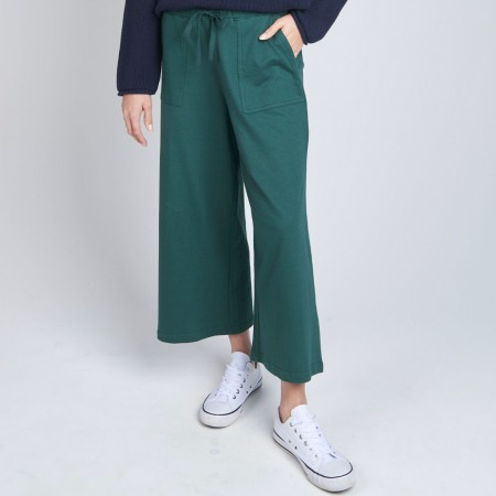 Torju 3/4 Wide Leg Trackpant - Hunter Green