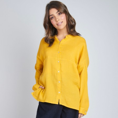 Torju Pleat Back Pocket Shirt - Yellow