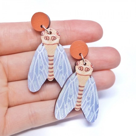 Pixie Nut and Co Cicada Earrings