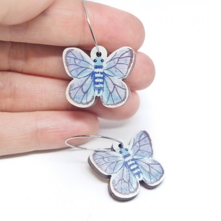 Pixie Nut and Co Butterfly Hoop Earrings