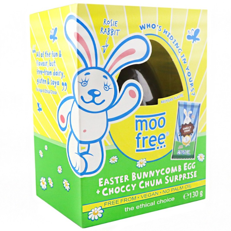 Moo Free Organic Dairy Free Easter Egg - Bunnycomb