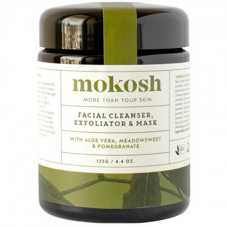 Mokosh Facial Cleanser Exfoliator and Mask 125g