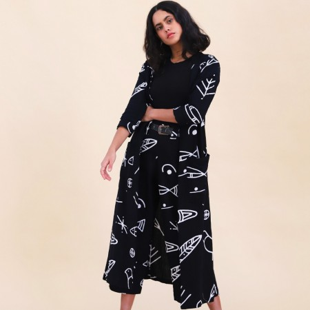 Frank & Dollys Birds Of Passage Linen Duster - Black
