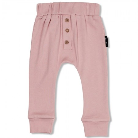 Aster & Oak Rose Button Slouch Pant