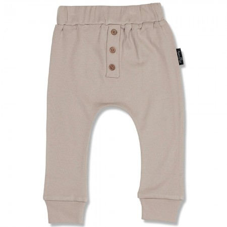 Aster & Oak Taupe Button Slouch Pant