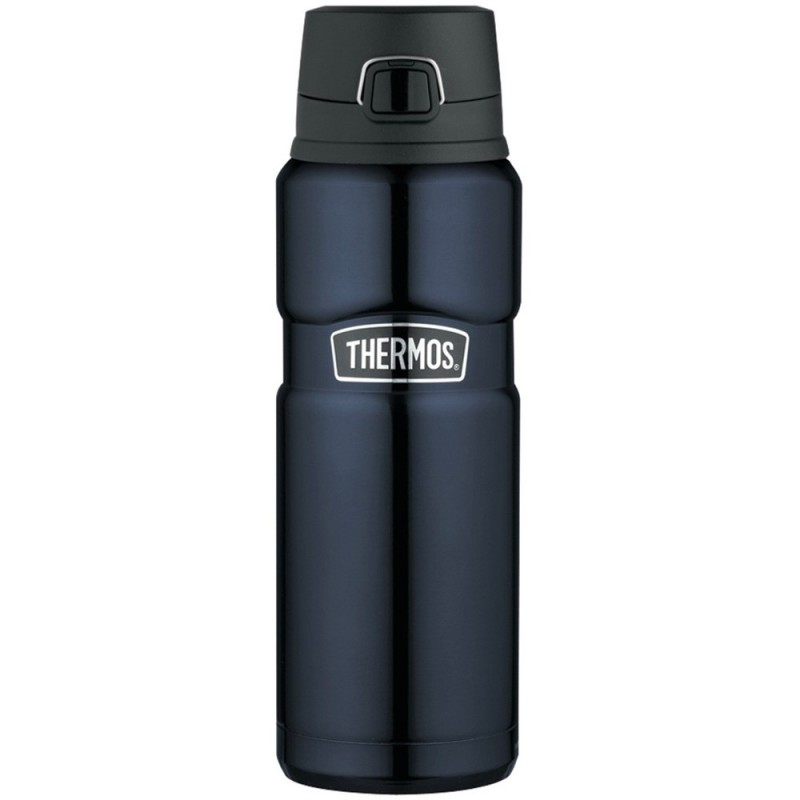 Thermos King Vacuum Insulated Bottle with Flip Lid 710ml - Midnight Blue
