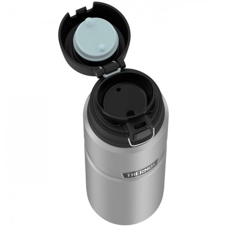 Thermos King Vacuum Insulated Bottle with Flip Lid 710ml - Matte Steel
