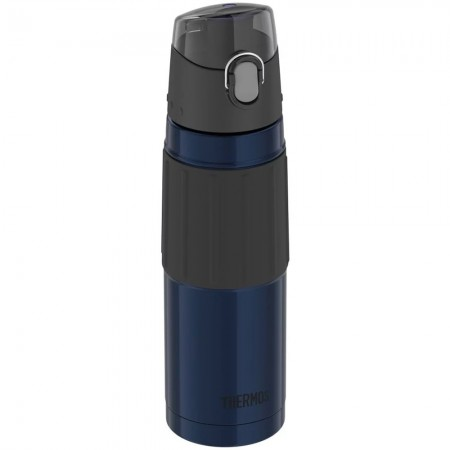 Thermos Vacuum Insulated Hydration Bottle with Flip Lid 530ml - Midnight Blue