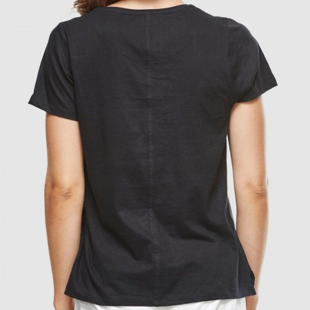 Cloth & Co. Classic V Neck Tee - Black