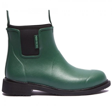 Merry People Bobbi Gumboot - Alpine Green & Black