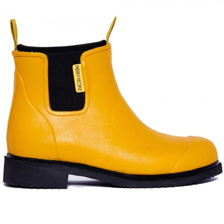 Merry People Bobbi Gumboot - Mustard Yellow & Black