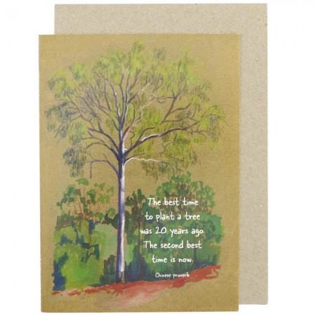 Paula Peeters Wildlife Greeting Card - Best Time to Plant