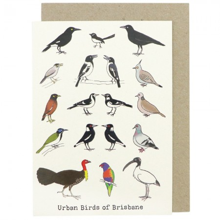 Paula Peeters Wildlife Greeting Card - Urban Birds of Brisbane