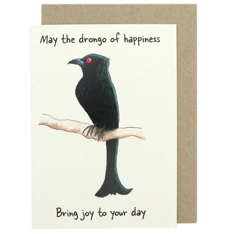 PP Wildlife Greeting Card Drongo Of Happiness