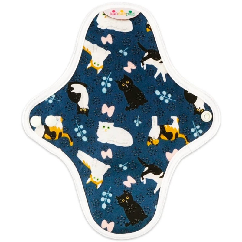 Hannahpad Small Cloth Pad 2pk - Curious Cat with Grip