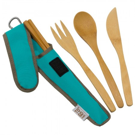 Chico To-Go Bamboo Utensil Set - Teal