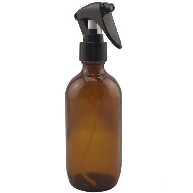 Amber Glass Bottle with Trigger Spray 200ml
