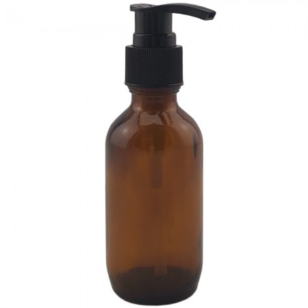 Amber Glass Bottle with Lotion Pump 100ml