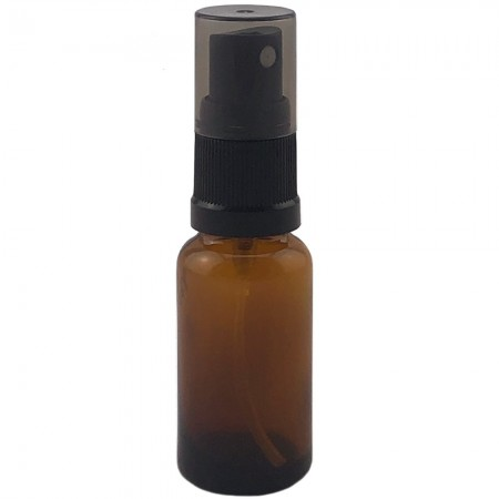 Amber Glass Bottle with Atomiser 20ml