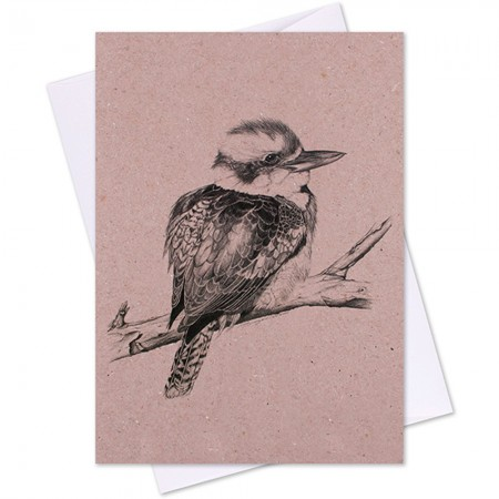 The Linen Press Greeting Card- Laughing Kookaburra