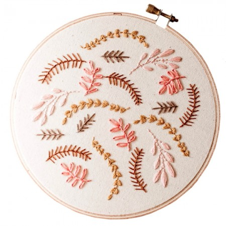 Brynn & Co. Coral Breeze Embroidery Kit