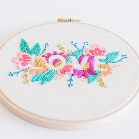 Brynn & Co. Love Embroidery Kit - Bright