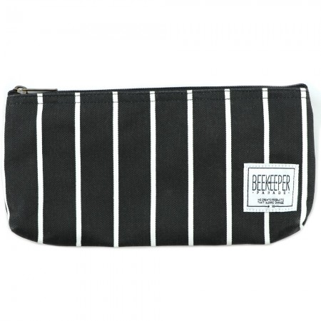 Beekeeper Parade Pencil Case - Black & White Stripe