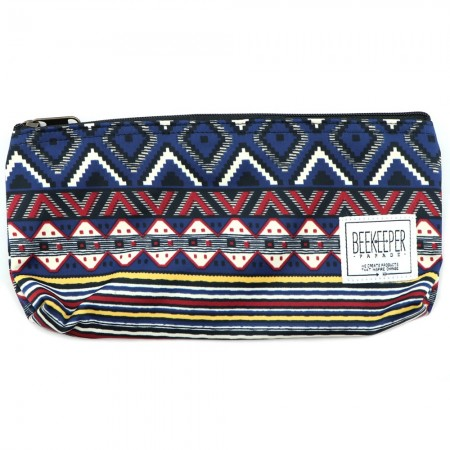 Beekeeper Parade Pencil Case - Navy Aztec