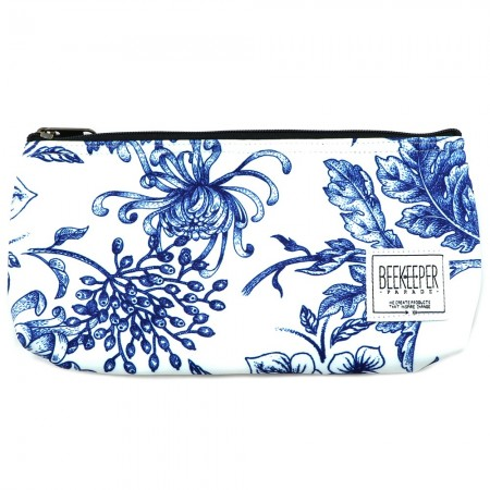 Beekeeper Parade Pencil Case - Blue Garden
