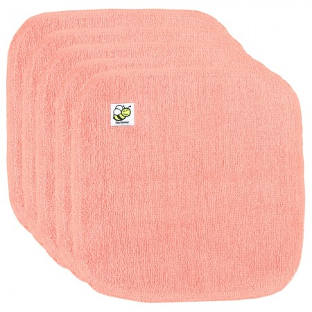 Baby Beehinds Organic Cotton Cloth Wipes - 5 Pack Coral