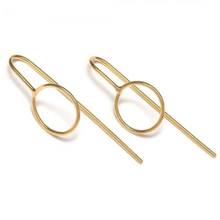 RBCCA KSTR Circle Ear Hooks - Gold