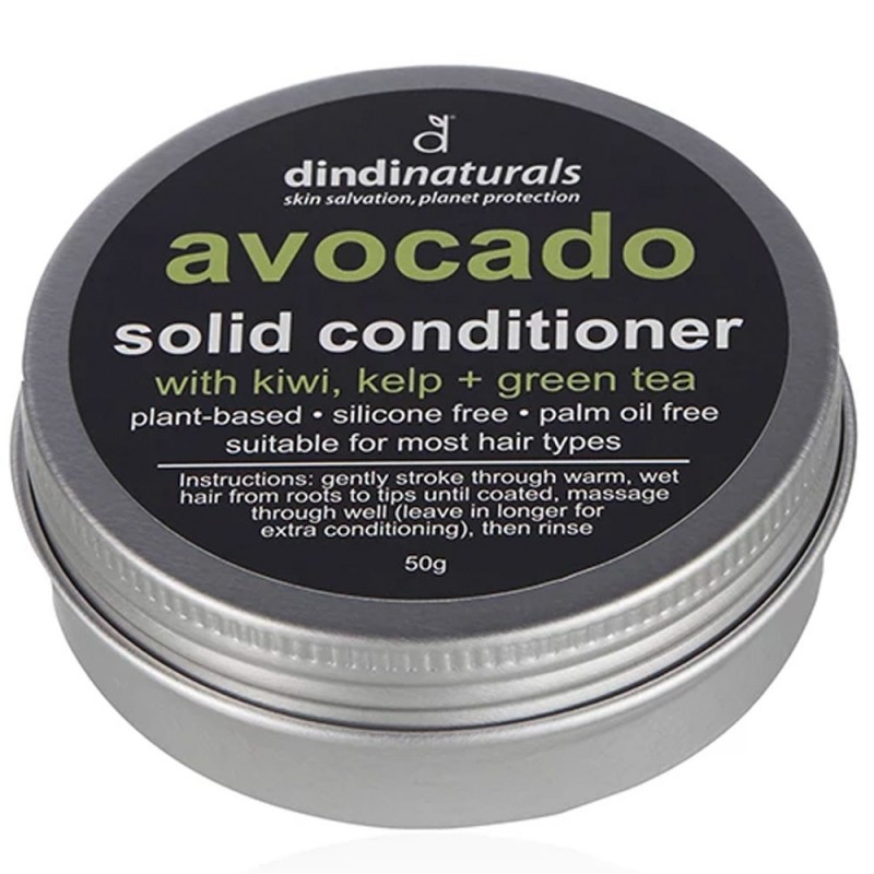 Dindi Naturals Solid Conditioner in Tin 50g - Avocado