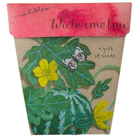 Sow 'n Sow Seed Greeting Card - Watermelon