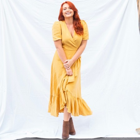 Luna + Sun Mya Linen Dress - Turmeric