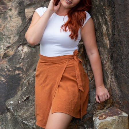 Luna + Sun Galle Skirt Terracotta