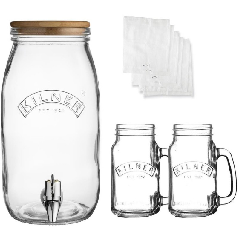 Kilner 3 Litre Kombucha Drinks Set