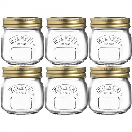 Kilner 250ml Preserve Jars Set of 6