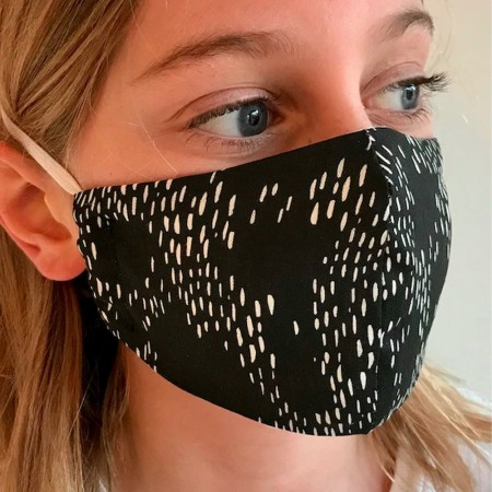Nya Cloth Face Mask - Hibiscus Red