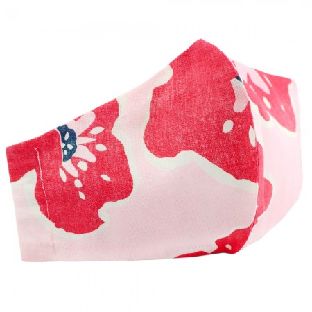Nya Cloth Face Mask - Pink Poppy