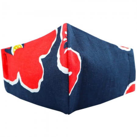 Nya Cloth Face Mask - Navy Poppy