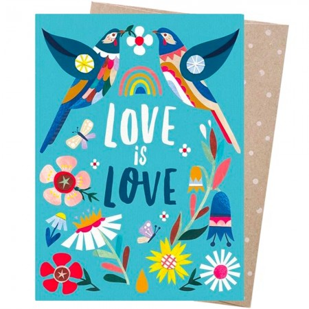Earth Greetings Card - Love Wattlebirds Love is Love