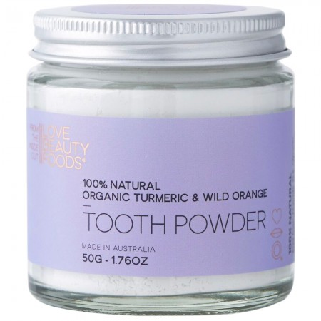 Love Beauty Foods Tooth Powder 50g - Turmeric & Wild Orange