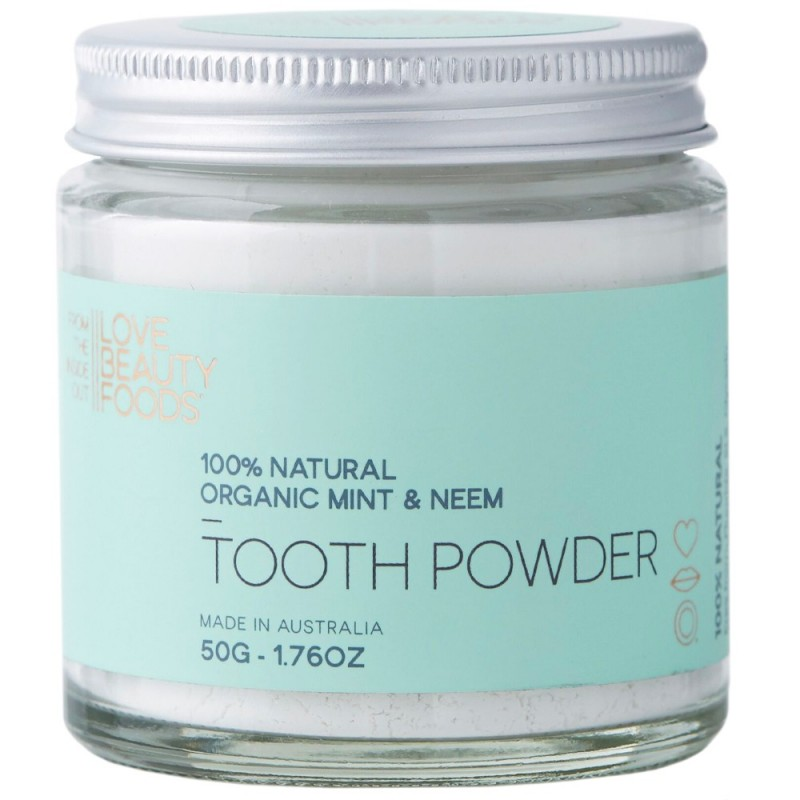 Love Beauty Foods Mint & Neem Tooth Powder 50g